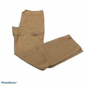 Democracy tan straight leg cargo pants size 14